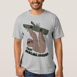 funny t shirt, hanging around t-shirt
