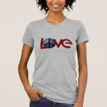 Funny T-Shirt, Love with Peace Sign