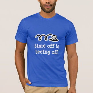 Funny t-shirt with golf humor