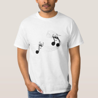 funny t-shirt with musical notes