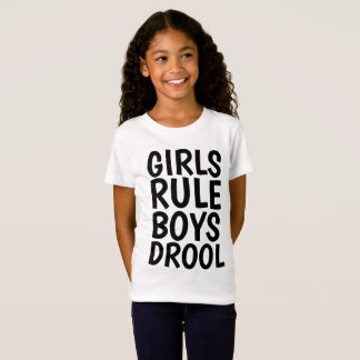 Funny T-shirts for Girls/Kids GIRLS RULE