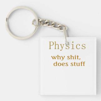 Funny t-shirts physics2 keychain