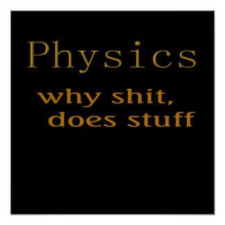 Funny t-shirts Physics humor Posters
