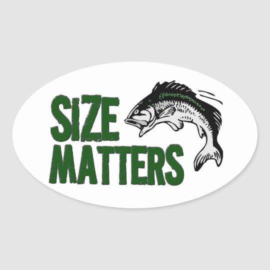 Funny Tacklebox SIZE MATTERS fisherman Oval Sticker