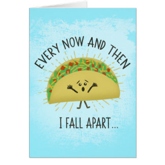 Funny Taco Miss You Card