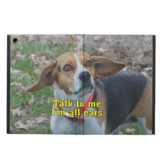 Funny Talk To Me I'm All Ears Beagle iPad Air Case
