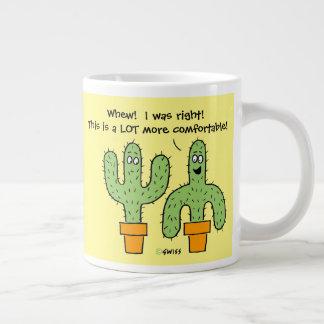 Funny Talking Cartoon Cactus Southwest Desert Large Coffee Mug