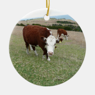 Funny Talking Cow Ornament