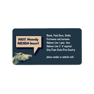 Funny Talking Horse Labels