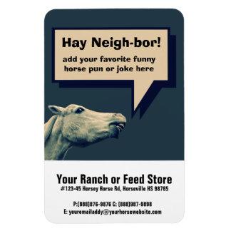 Funny Talking Horse Rectangular Photo Magnet