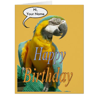 talking parrot cards  zazzle, Birthday card