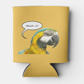 Funny Talking Parrot Customizable Can Cooler