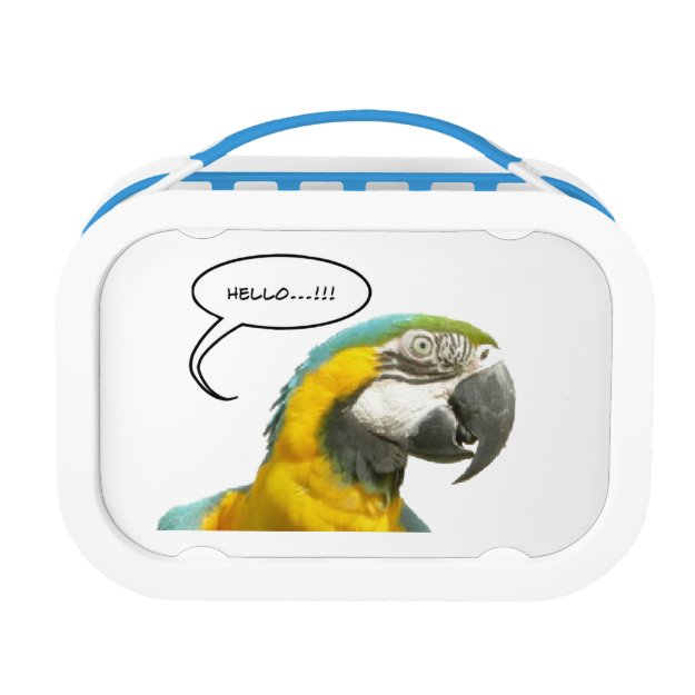Funny Talking Parrot Lunchbox