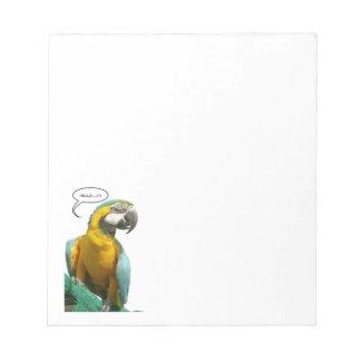 Funny Talking Parrot Notepad