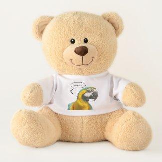 Funny Talking Parrot Teddy Bear
