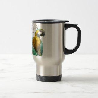 Funny Talking Parrot Travel Mug