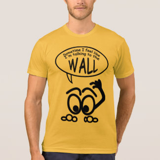 Funny Talking to Wall Men's American Apparel T T-Shirt