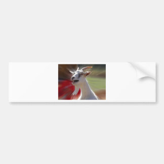 Funny Tallking Goat Photograph Bumper Sticker