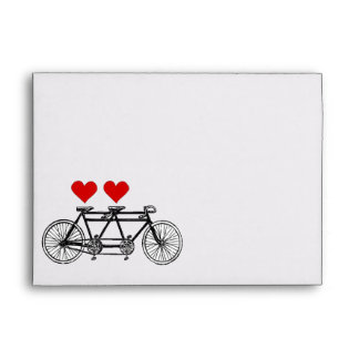 Funny tandem love and couple envelope