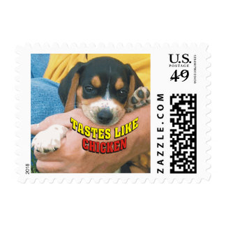 Funny Tastes Like Chicken Beagle Puppy Postage