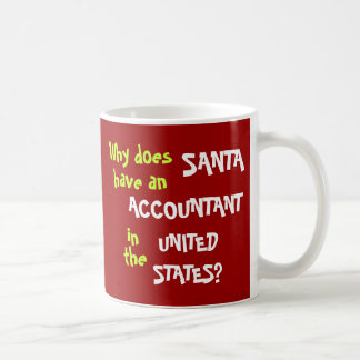 Funny Tax Accountant Christmas Joke USA Coffee Mug