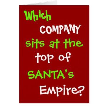 Lawyer Themed Funny Tax Accountant Lawyer Christmas Card Joke