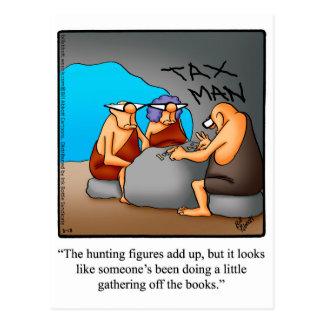 Funny Tax Humor Postcard