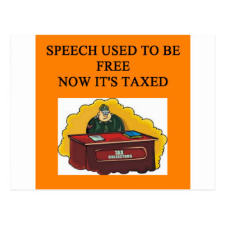 funny tax time joke postcard