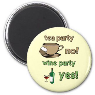 Funny tea party 2 inch round magnet