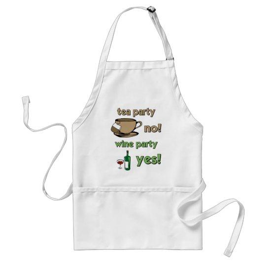 Funny tea party adult apron