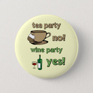 Funny tea party button