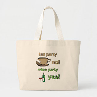 Funny tea party canvas bags