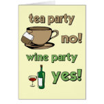 Funny tea party greeting card