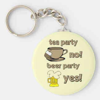 Funny tea party keychain