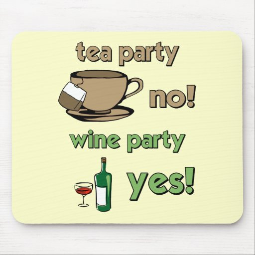 Funny tea party mouse pads
