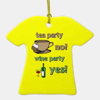 Funny tea party ornament