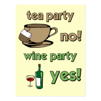 Funny tea party post card