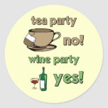 Funny tea party sticker