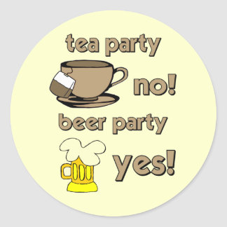 Funny tea party stickers