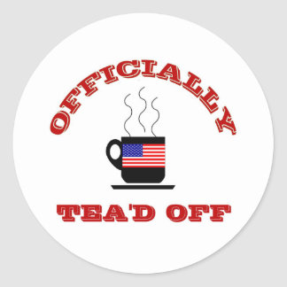 Funny Tea Party T-shirts Sticker