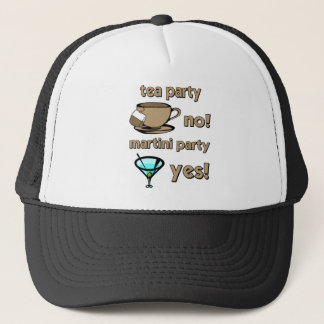 Funny tea party trucker hat