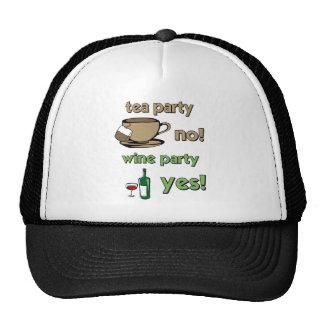 Funny tea party trucker hats