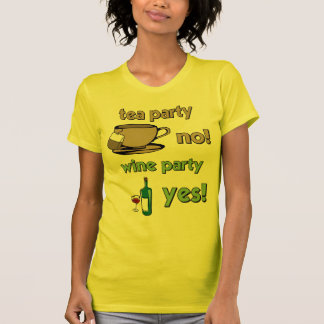 Funny tea party tshirts