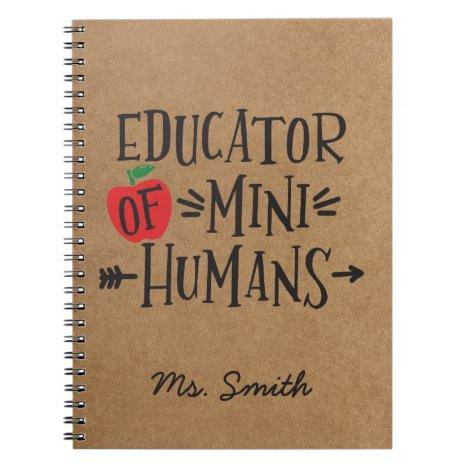 Funny Teacher Appreciation Gift Notebook