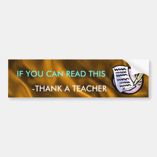 Funny Teacher Bumper Sticker