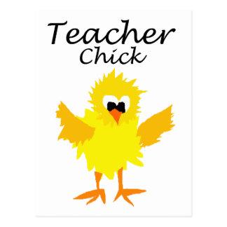 Funny Teacher Chick Art Design Postcard