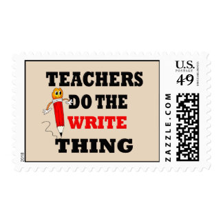 Funny Teacher Do the Write Thing Postage