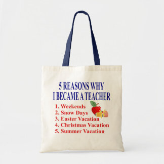 Funny Teacher Gift Canvas Bag