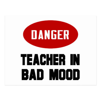 Funny Teacher in Bad Mood Postcard