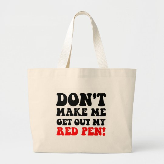 Funny teacher large tote bag